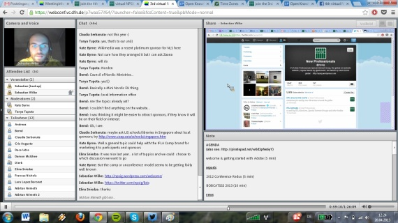 screenshot 3rd virtual NPSIG meeting